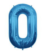 "Blue 34"" # 0 Balloon"