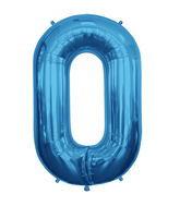 "Blue 34"" # 0 Balloon"