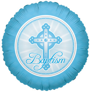"18"" Boy Baptism Balloon 1ct"