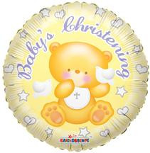 "18"" Baby's Christening Bear 1ct"
