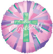 "18"" Girl Christening Holographic 1ct"