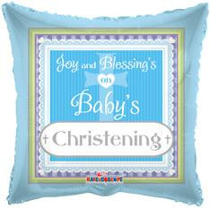 "18"" Square Boy Christening 1ct"