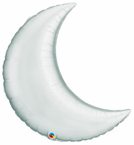 "9"" Silver Crescent Moon 1ct"