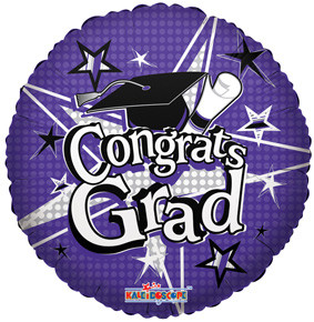 "18"" Congrats Grad Purple Balloon 1ct #85157"