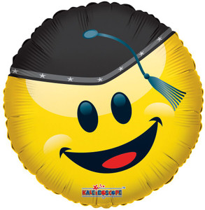 "18"" Smiley Grad With Cap Balloon 1ct #85150"