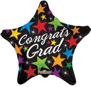 "18"" Congrats Grad Stars Balloon 1ct #85194"