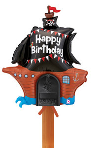 "34"" Happy Birthday Pirate Ship"