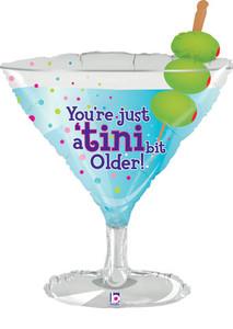 "35"" Martini Balloons Tini Bit Older"