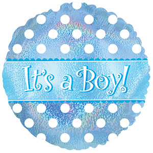 "9"" Mini Boy Dazzleloon Air Fill Foil Balloon #124040"