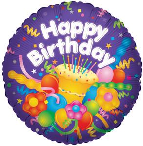 "9"" Mini Foil Birthday Cup Cake Air Fill Foil Balloons"