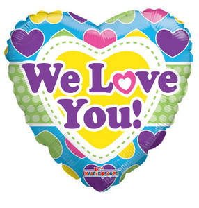 "9"" Mini We Love You Foil Air Fill Balloons 1ct"