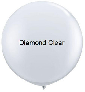"36"" Qualatex Round Diamond Clear Bubble 1ct #43392"