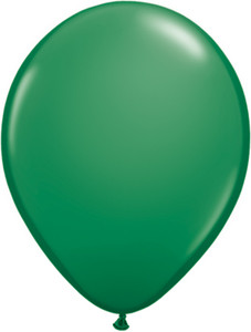 "5"" Qualatex Green Latex Balloons 100Bag #43561-5"