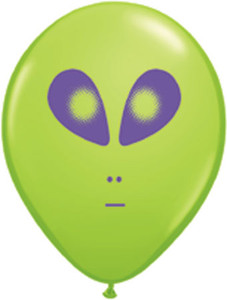 """5"""" Qualatex Alien Head Lime 100Bag #79711"""