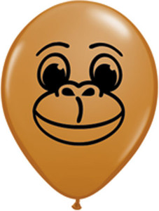 "5"" Qualatex Monkey Face Latex Balloons 100Bag #22905"