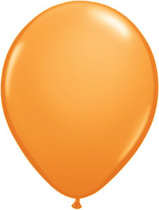 "5"" Qualatex Orange Latex Balloons 100Bag #43570-5"