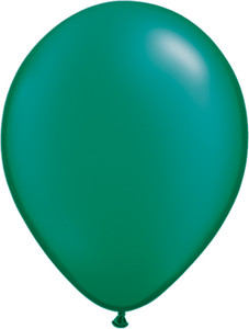 "5"" Qualatex Pearl Emerald Green Latex Balloons 100 Bag #43581-5"