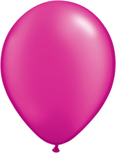 "5"" Qualatex Pearl Magenta Latex Balloons 100Bag #99352-5"