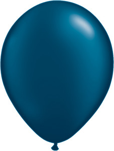 "5"" Qualatex Pearl Midnight Blue Latex Balloons 100Bag #43589-5"