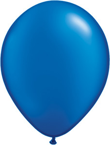 "5"" Qualatex Pearl Sapphire Blue Latex Balloons 100Bag #43595-5"