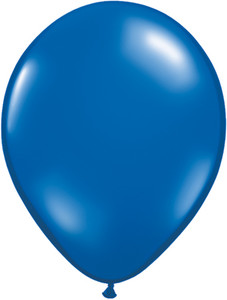 "5"" Qualatex Sapphire Blue Latex Balloons 100Bag #43602-5"