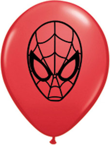 "5"" Qualatex Spideman Face Red Latex Balloons 100Bag #21842"