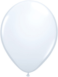 "5"" Qualatex Standard White Latex Balloons 100Bag #43607"