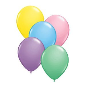 "9"" Qualatex Pastel Assortment Latex Balloons Balloons 100BAG #43698-9"