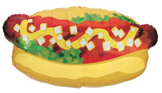 "**SPECIAL** 32"" Hot Dog Shape Balloon 1ct 15657"