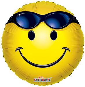 "18"" Summer Smiley Sunglasses Balloon 1ct #17525"