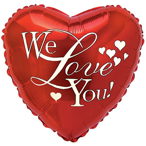 "18"" We Love You Balloons 1ct #214043"