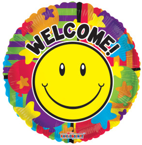 "18"" Welcome Smiley Balloons 1ct #19693"