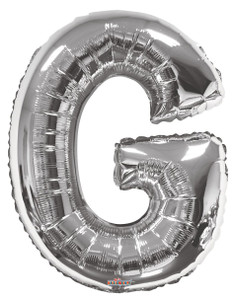 "34"" Silver Letter ""G"" Balloon #15236-34S"
