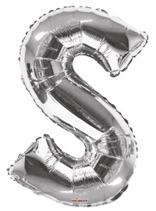 silver letter s balloon