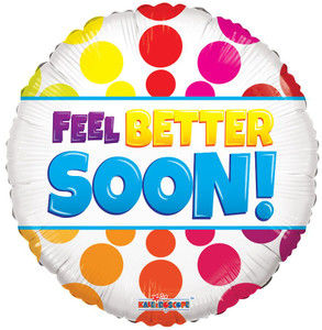 "18"" Feel Better Soon Dots 1ct #15395"