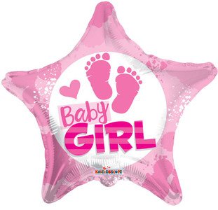 it's a girl foot print balloon