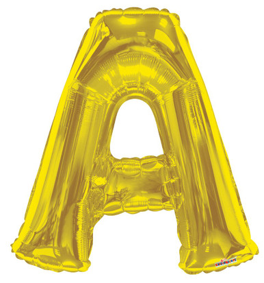 gold letter a balloon