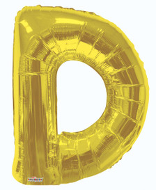gold letter balloons-gold letter d balloon