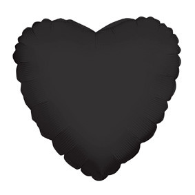 "9"" Black Heart Foil Balloon Air Fill Only 1ct #34107-09"