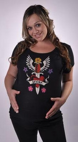Fierce Love Tattoo Maternity Tee
