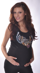 One Lucky Mother Tattoo Maternity Tank Top