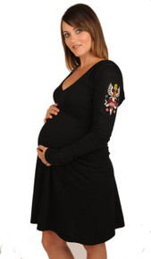 Fierce Love Hoodie Maternity Dress