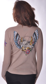 One Lucky Mother Tattoo Maternity Wrap Cardigan