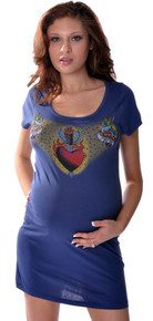 Heart and Dagger Birds Maternity Dress/Tunic