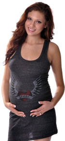 Eco-Friendly Heart and Wing Maternity Tank Dress