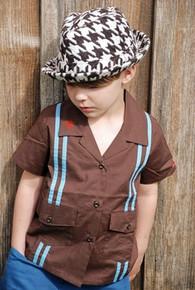 Bogus Houndstooth Baby/Toddler Fedora Hat