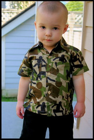 Abstract Camo Baby Shirt