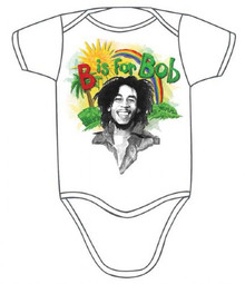 Bob Marley Rainbow B is for Bob Baby Onesie