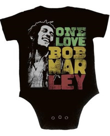 Bob Marley Smiling One Love Baby Onesie