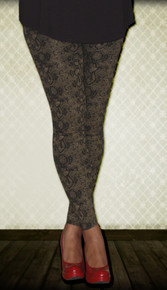 Bronze Snakeskin Print Maternity Leggings
